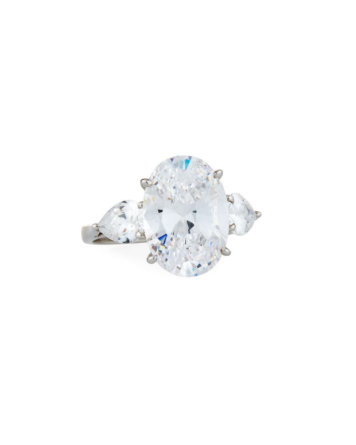 Fantasia Synthetic Sapphire & Cubic Zirconia Oval Ring 6MJPf