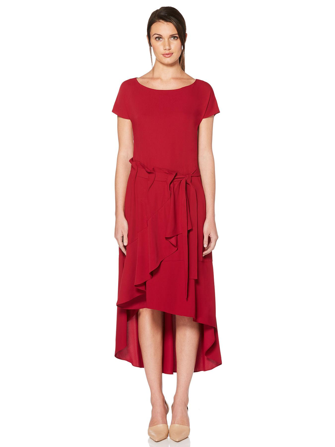 5058205d67 Lyst - Laundry By Shelli Segal Asymmetrical High-low Dress in Red