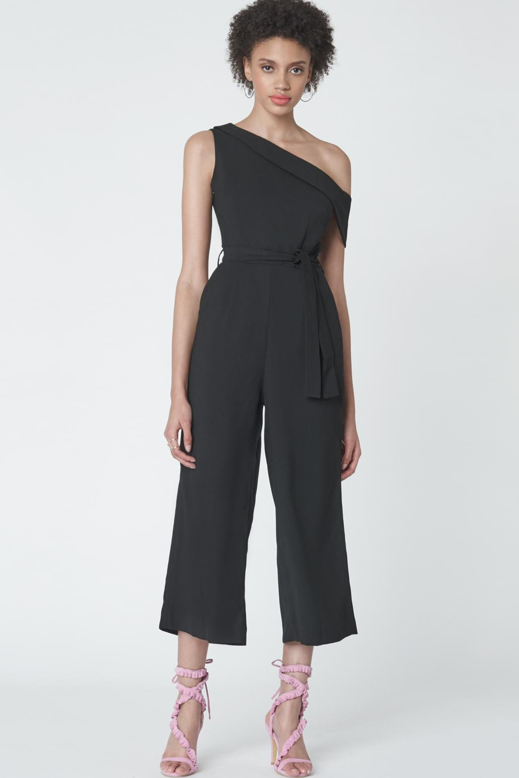 d9c96a043b7 Lyst - Lavish Alice Cropped Leg Asymmetric Jumpsuit In Black in Black