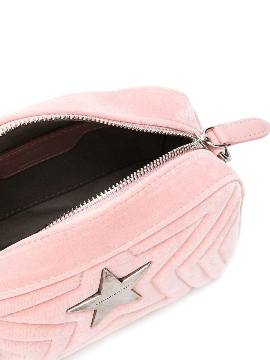 Lyst - Stella McCartney Stella Star Bag Pink Velvet in Pink 26465ba417e21