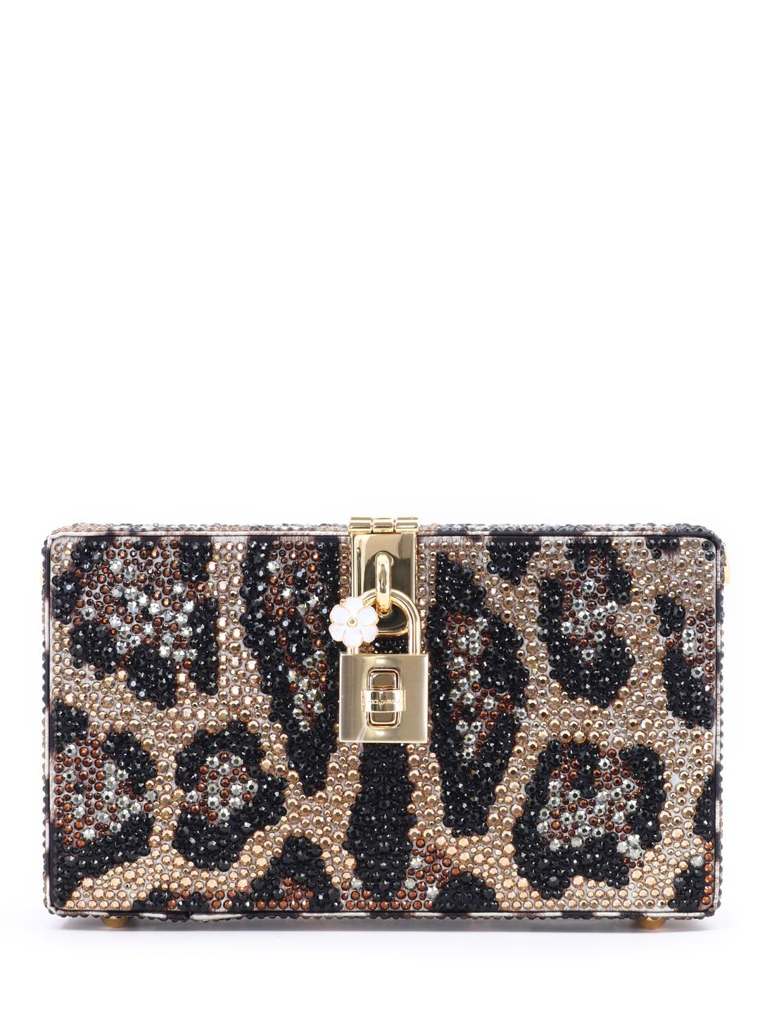 f978b6380c12 Lyst - Dolce   Gabbana Embellished Clutch Bag in Brown - Save 36%
