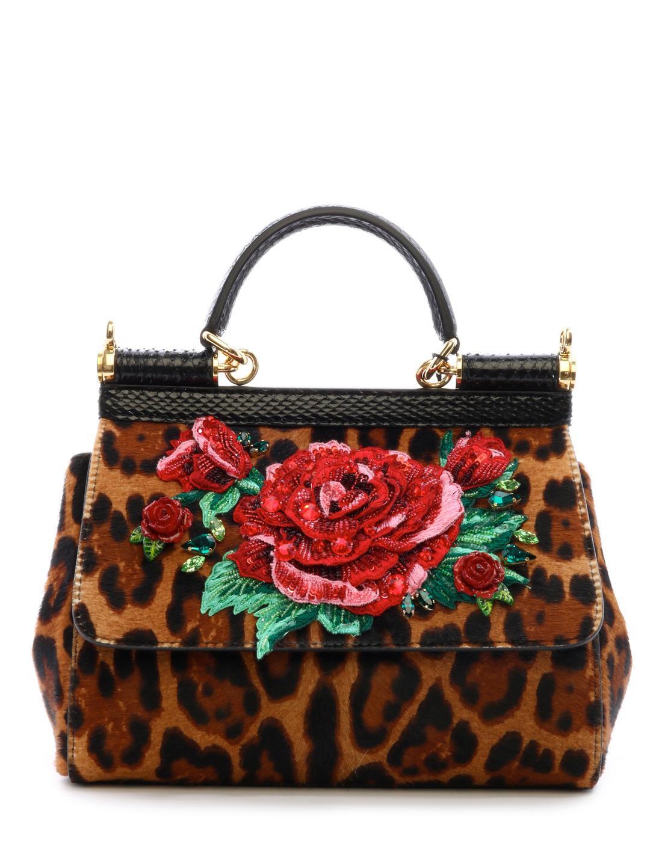 df61e677517 Lyst - Dolce & Gabbana Sicily Bag Pony Leo in Brown