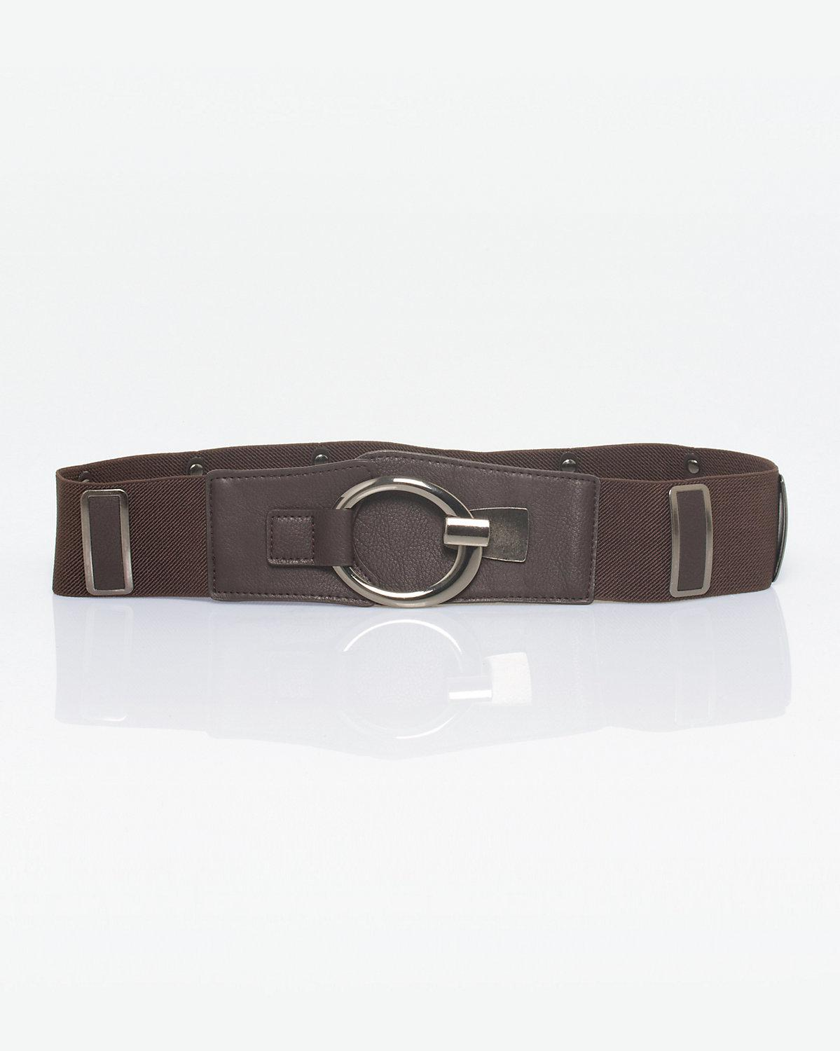 7534fd8f3 Lyst - Le Chateau Elastic   Metal Belt in Brown