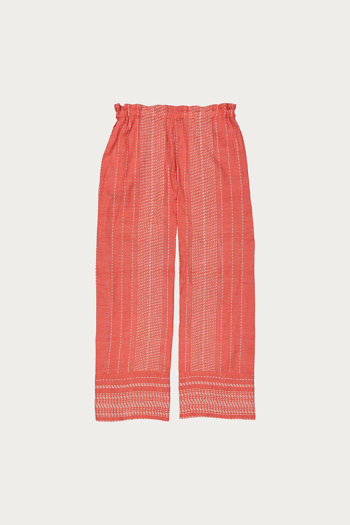Footlocker Finishline For Sale Saba Cropped Embroidered Cotton-gauze Wide-leg Pants - Coral Lemlem Lowest Price Sale Online Discount Nicekicks Fake Online MbBEZ