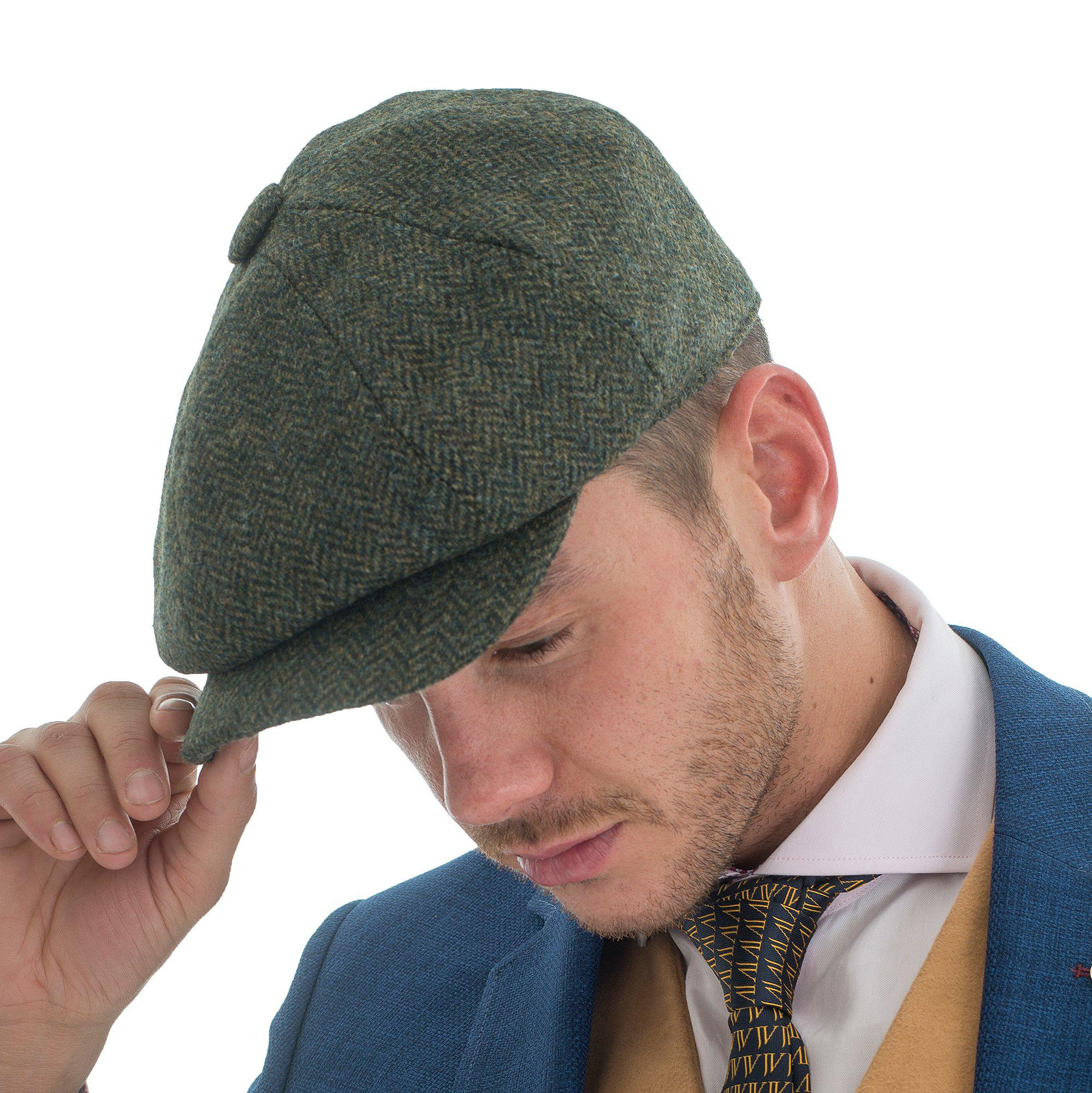 230674631c1 John Victor Tweed Herringbone Hat Forrest in Green for Men - Lyst