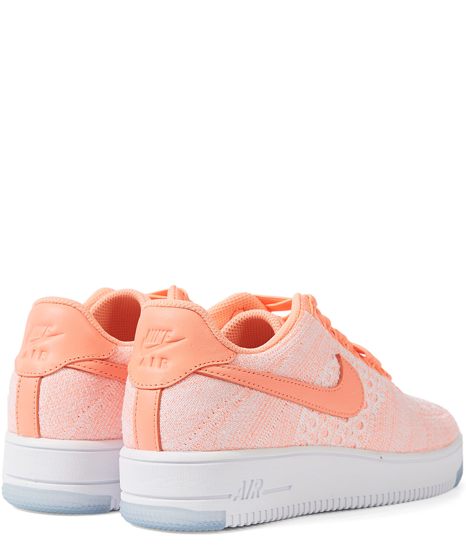 nike pink air force 1 flyknit trainer in pink lyst. Black Bedroom Furniture Sets. Home Design Ideas