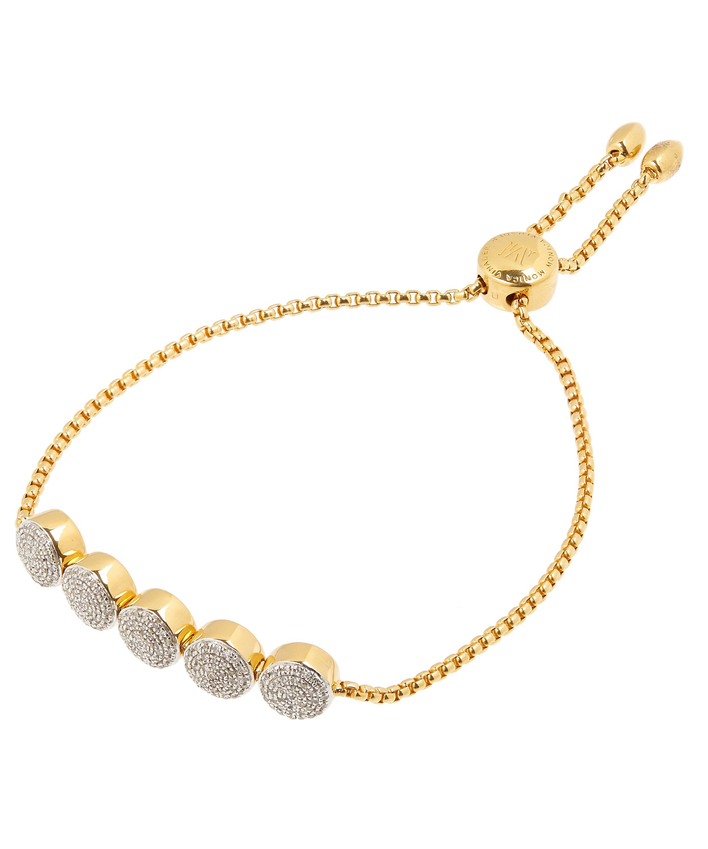 Gold Fiji Button Friendship Chain Bracelet Diamond Monica Vinader 1ErPnsS