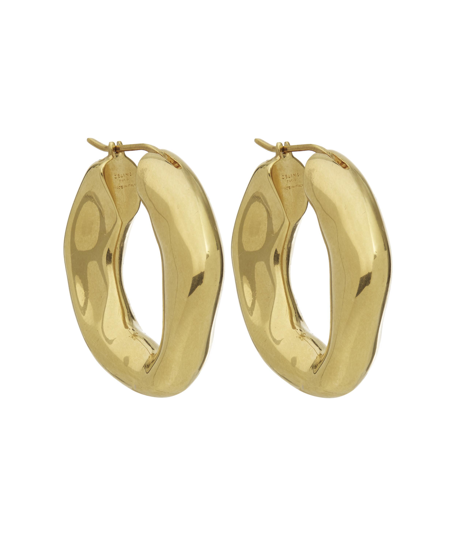 2dddfe801 Jewelry Punk Large Hoop Earring For Women Lady Stainless Steel Gold.  Gallery. Céline Large Chunky Hoop Earrings In Metallic Lyst