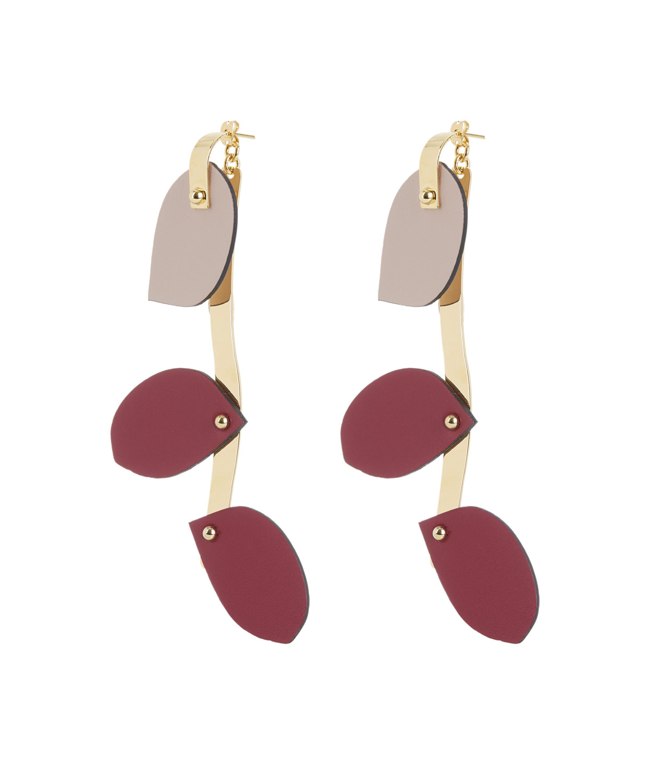 Marni Petal Earrings in Dry Rose Resin Dsk96V1oKZ