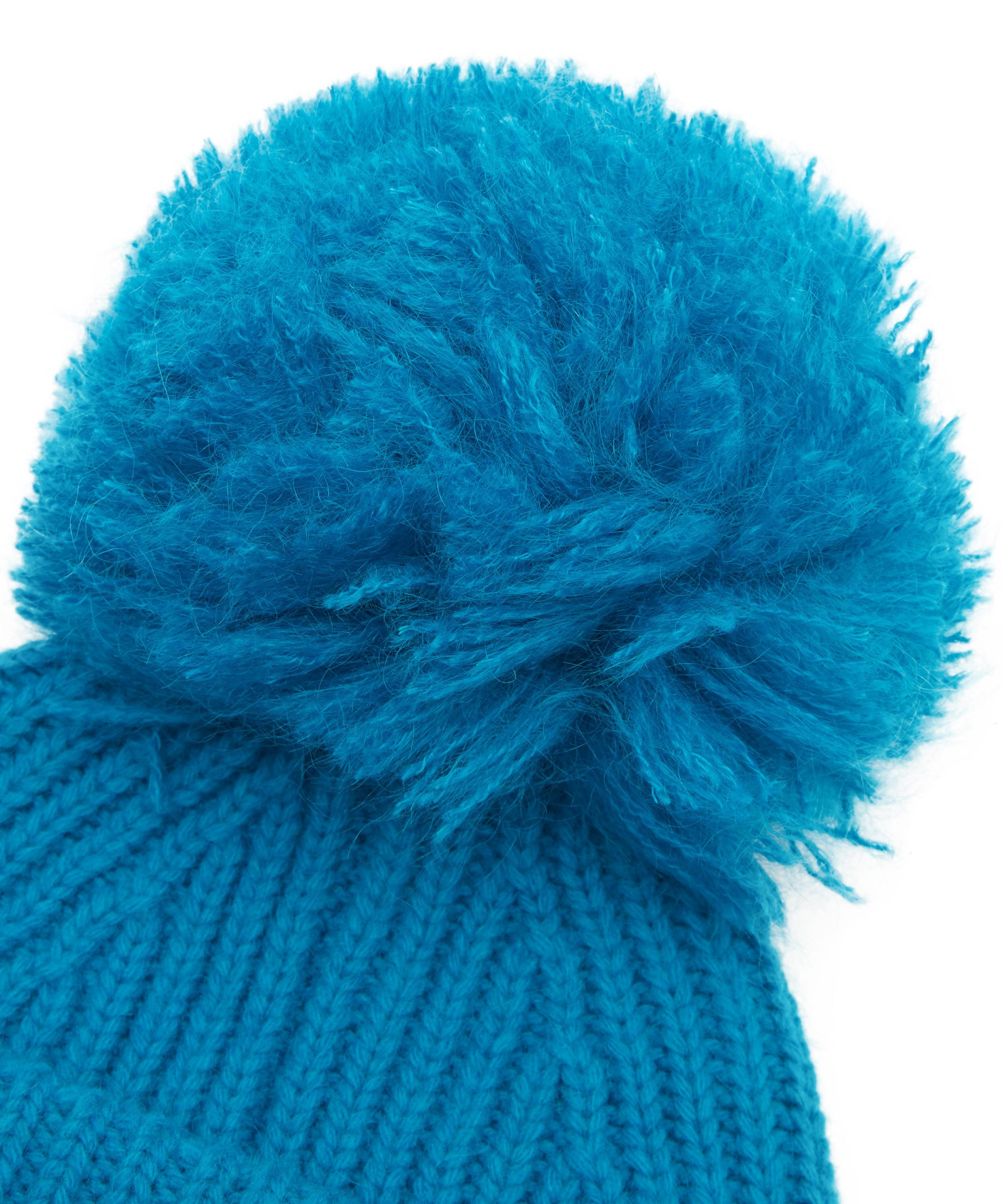 Lyst - Acne Studios Solia Knitted Pom Pom Hat in Blue bcf1d57b5814