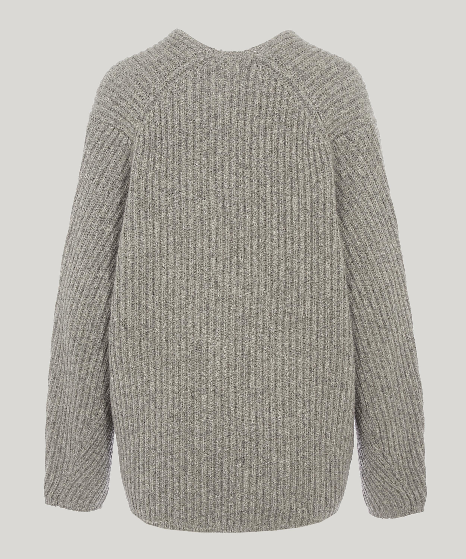 1b0734901591 Lyst - Acne Studios Deborah Wool Long Sleeve Ribbed Jumper in Gray