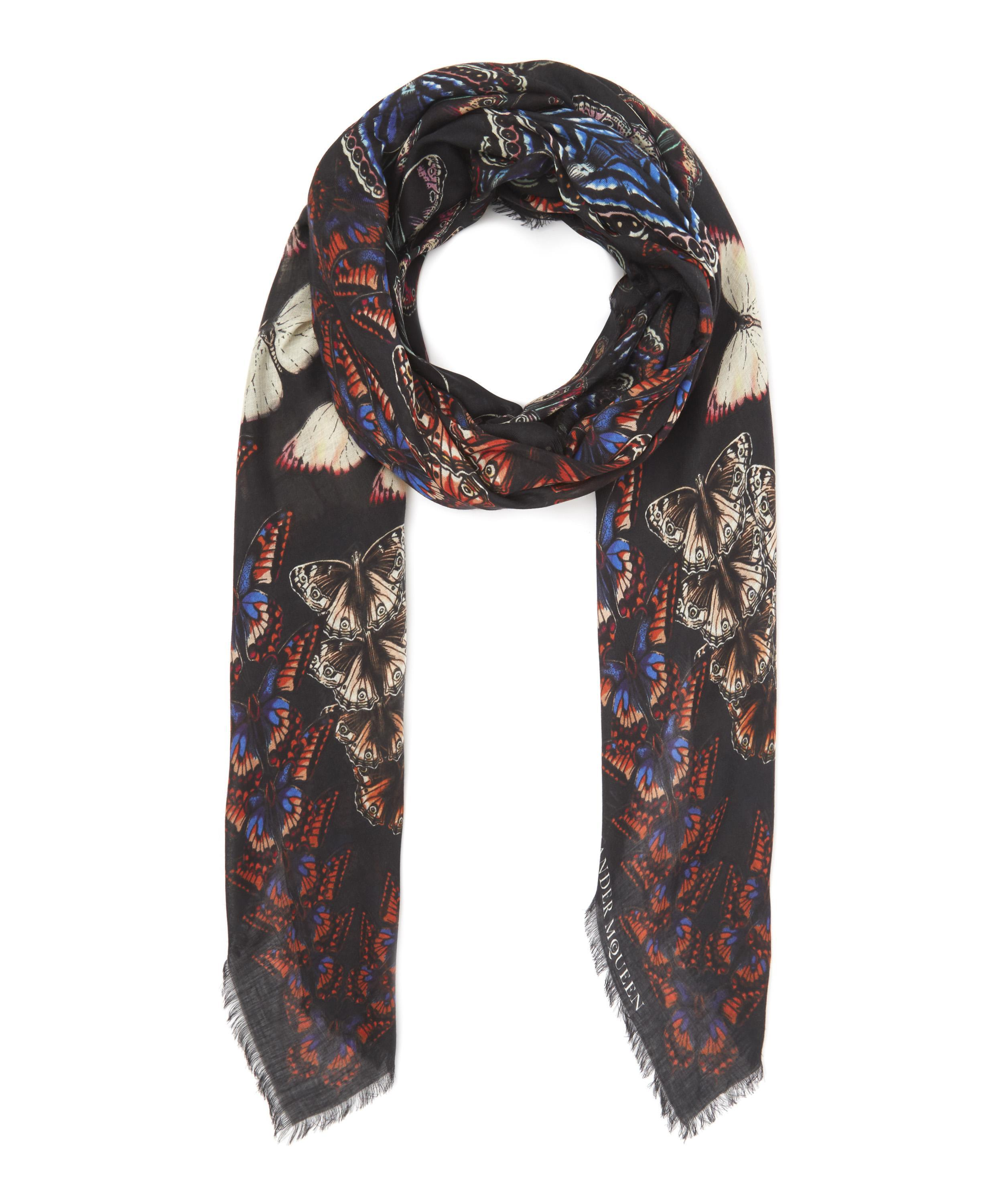 Alexander McQueen Metapmorphosis butterfly pashmina Outlet New Arrival Outlet Store For Sale Cheap High Quality A3kpC2us