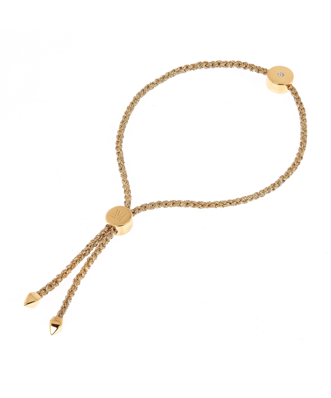 3afa286ab Monica Vinader - Metallic Gold Vermeil Linear Solo Diamond Cord Friendship  Bracelet - Lyst. View fullscreen