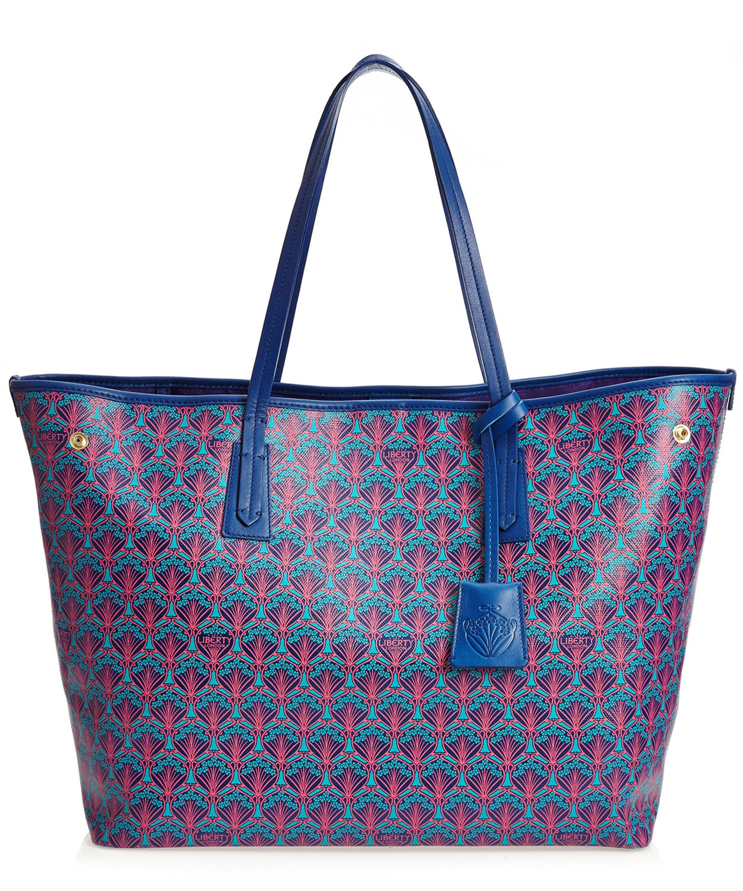 lyst liberty marlborough tote bag in iphis canvas in blue. Black Bedroom Furniture Sets. Home Design Ideas