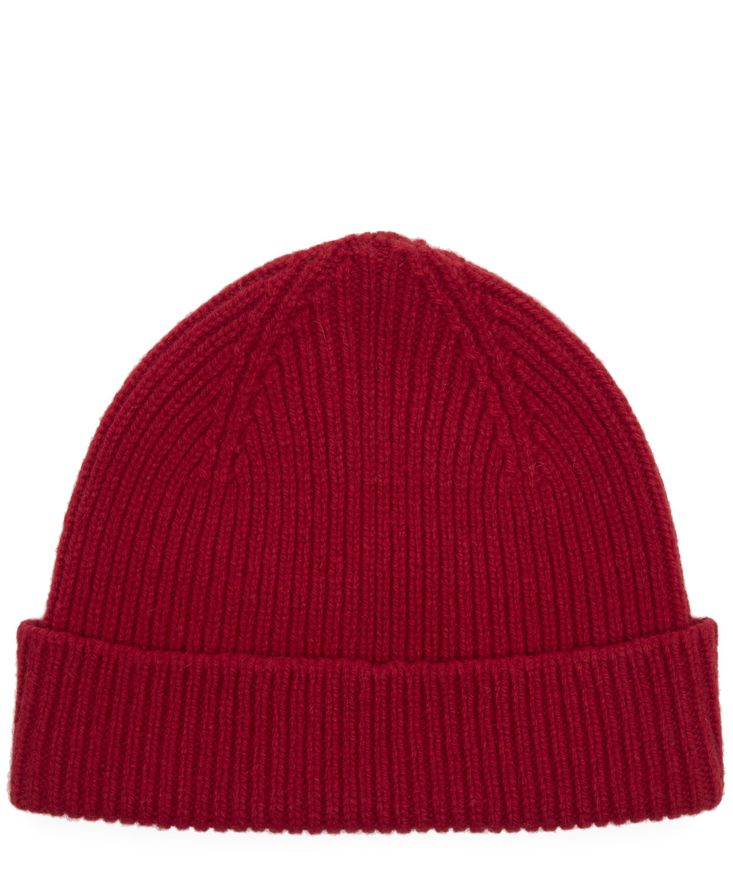 cfb8fcbc071 Lyst - Paul Smith Cashmere Ribbed Beanie in Red for Men