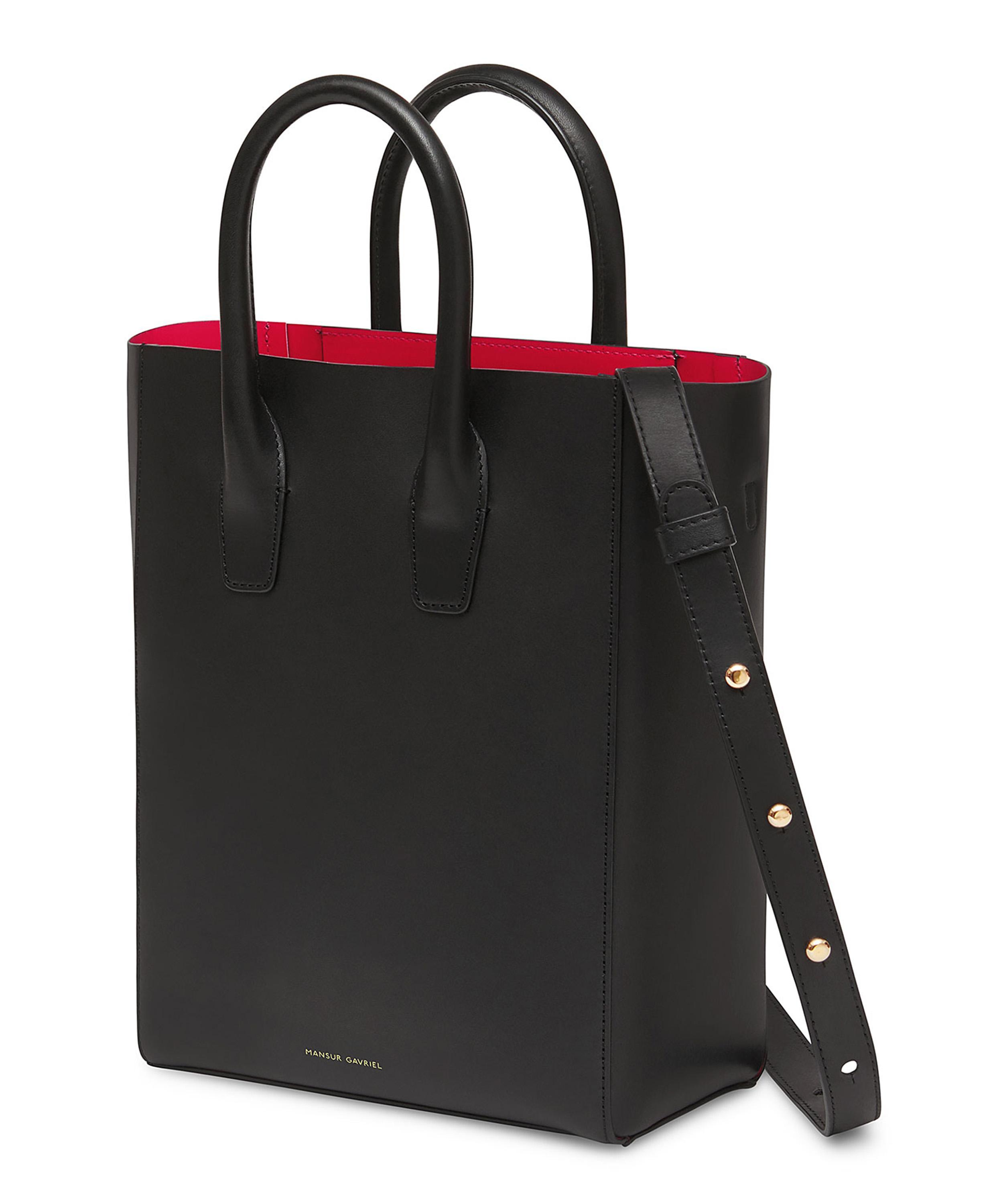 f01b1776e18f Lyst - Mansur Gavriel New Smooth Leather Tote Bag in Black - Save 16%