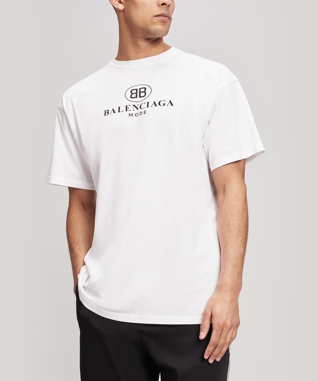 be816f1b Balenciaga - White Mode Logo T-shirt for Men - Lyst. View fullscreen