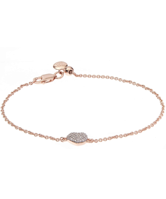 Rose Gold Nura Mini Nugget Bracelet Turquoise Monica Vinader 4YytYiMQE1