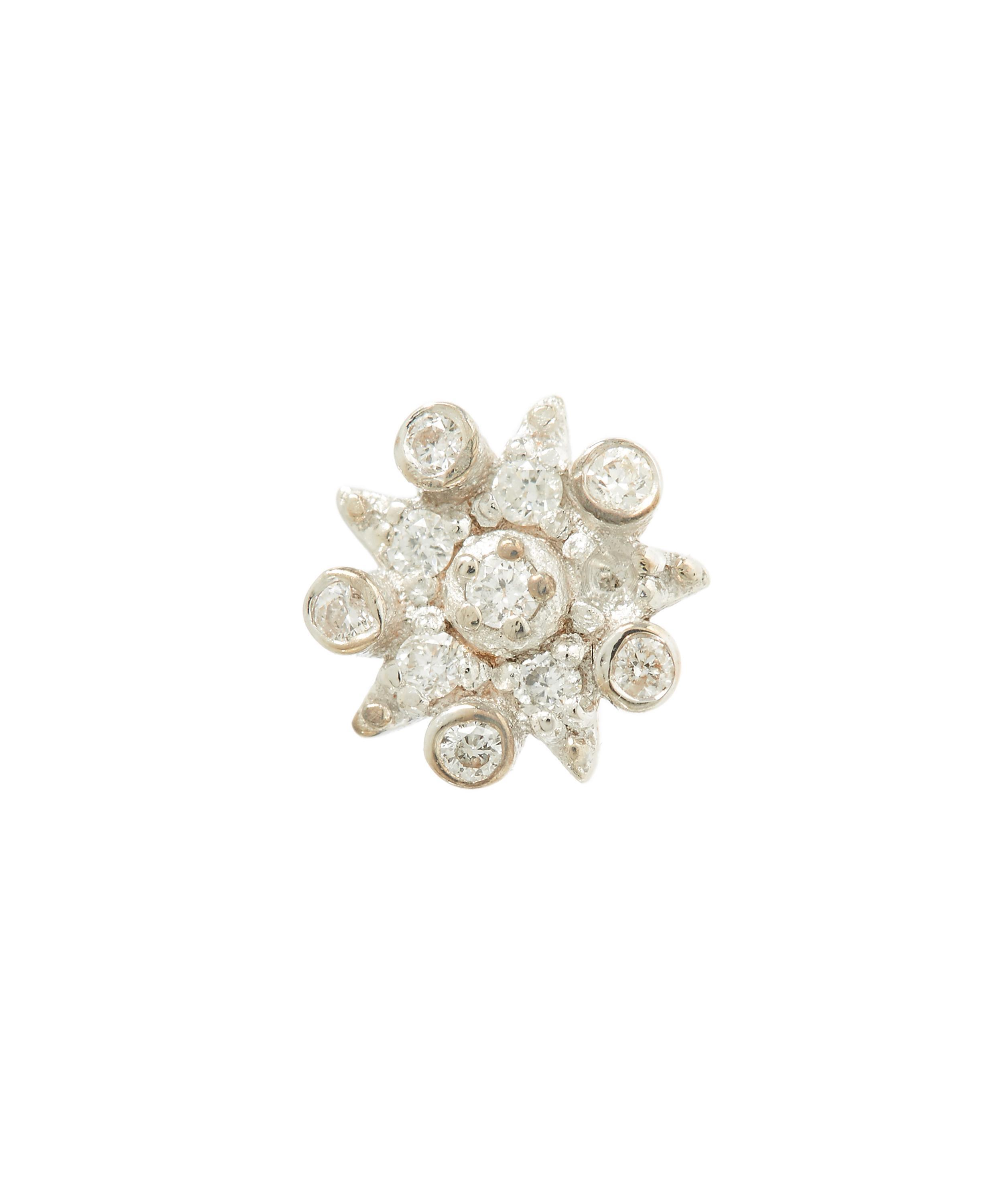 Kismet by Milka Eclectic Champagne & White Diamond Large Star Stud Earring H7wI0Es