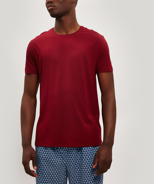 7daaa23651cc Derek Rose Basel 7 Micro Modal T-shirt in Red for Men - Lyst