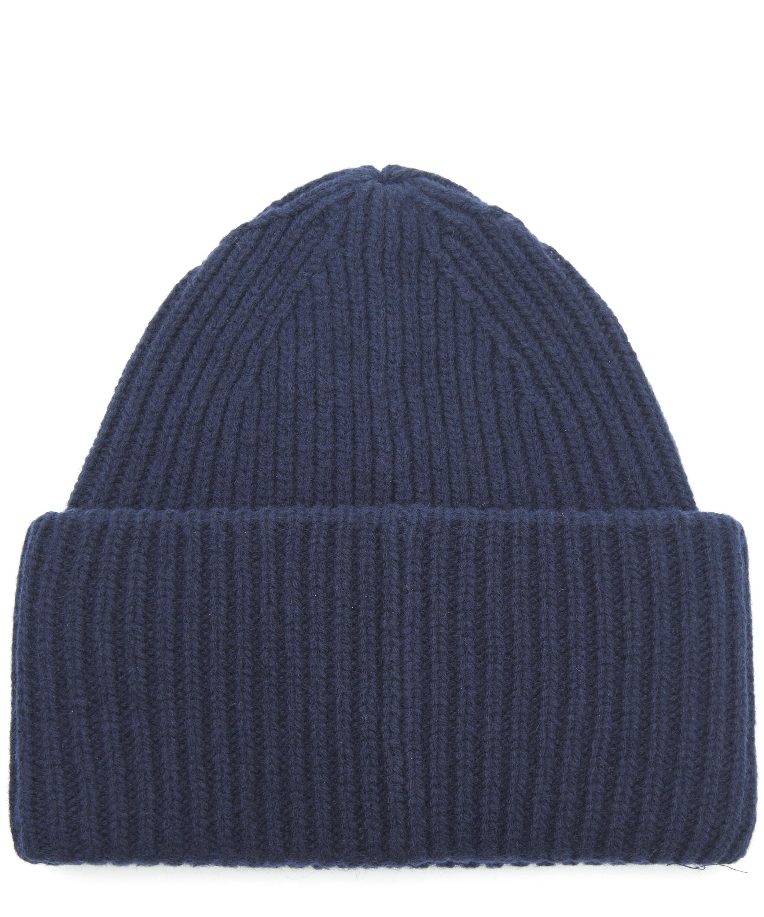 19e6fb61e28 Lyst - Acne Studios Pansy Face Wool Beanie Hat in Blue for Men