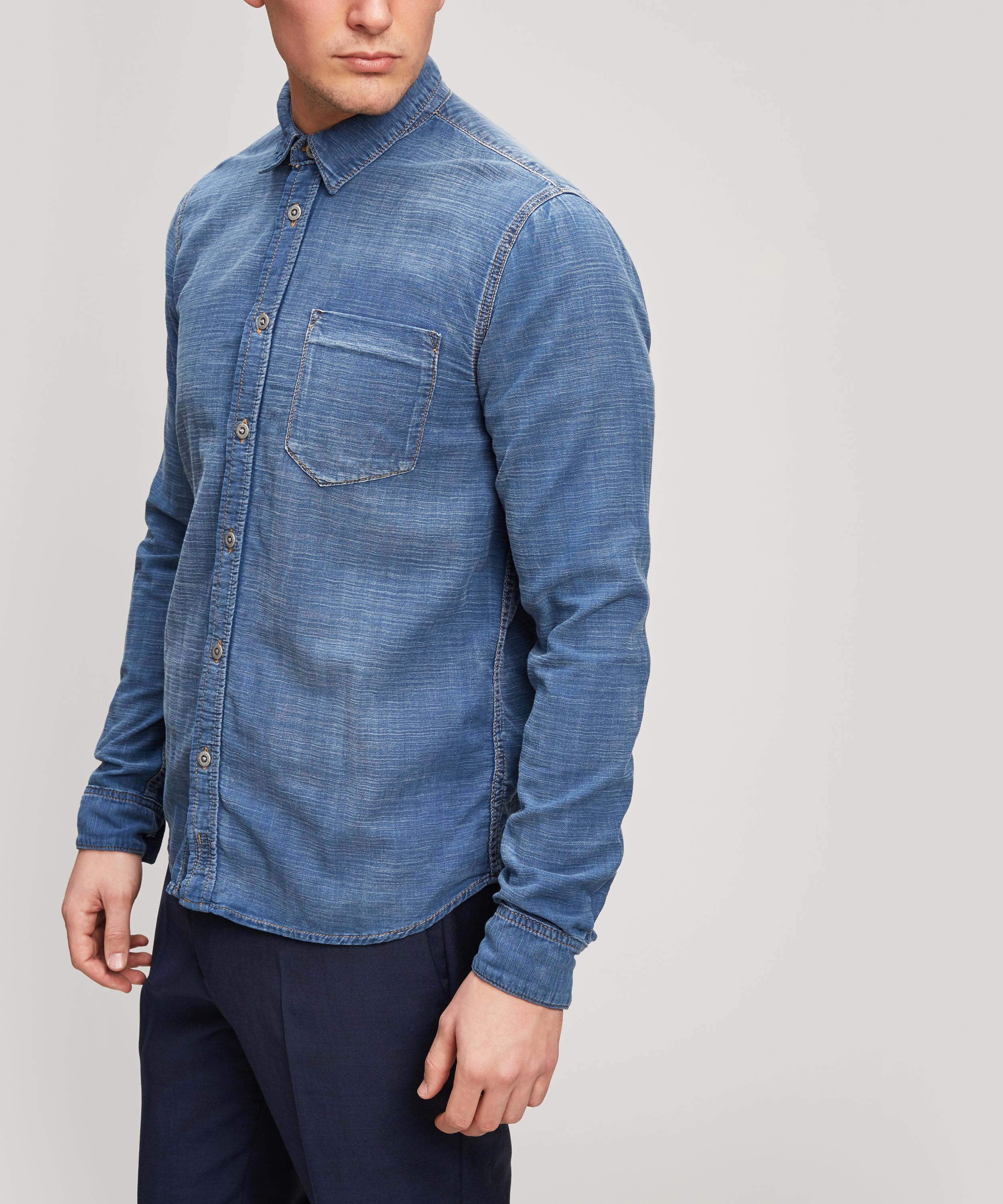 045ea4ff0d Nudie Jeans Henry Mid Chambray Shirt in Blue for Men - Lyst