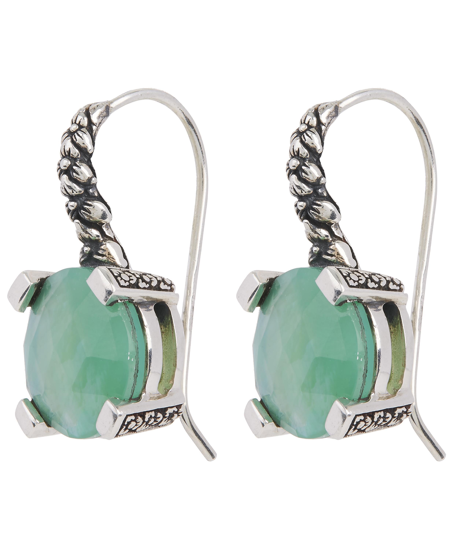 Stephen Dweck Mixed Cluster Silver Drop Earrings qyNjW1z