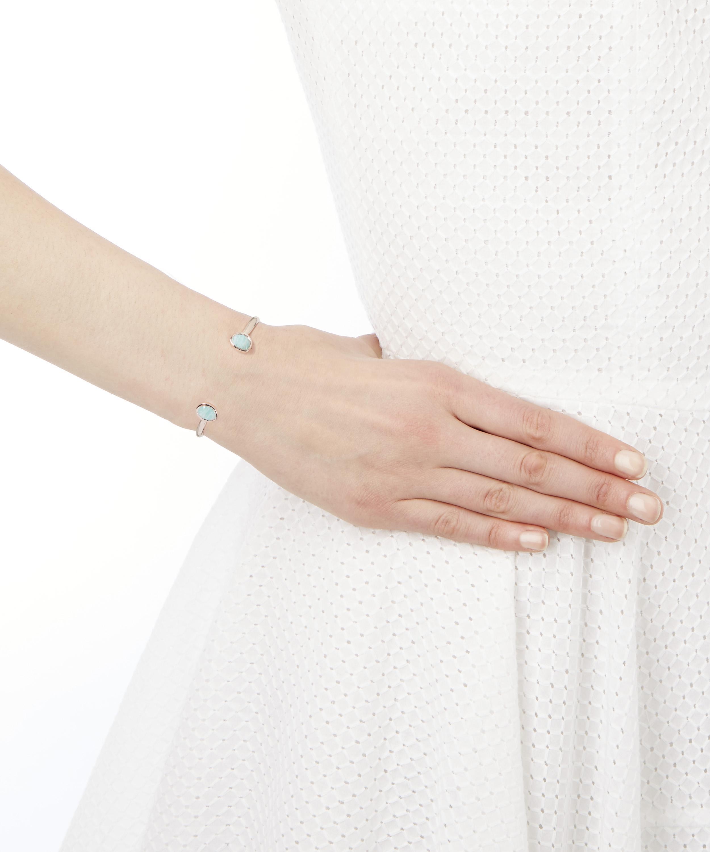 91cb8bb01a975e Monica Vinader Rose Gold Vermeil Siren Amazonite Thin Cuff Bracelet in  Metallic - Lyst