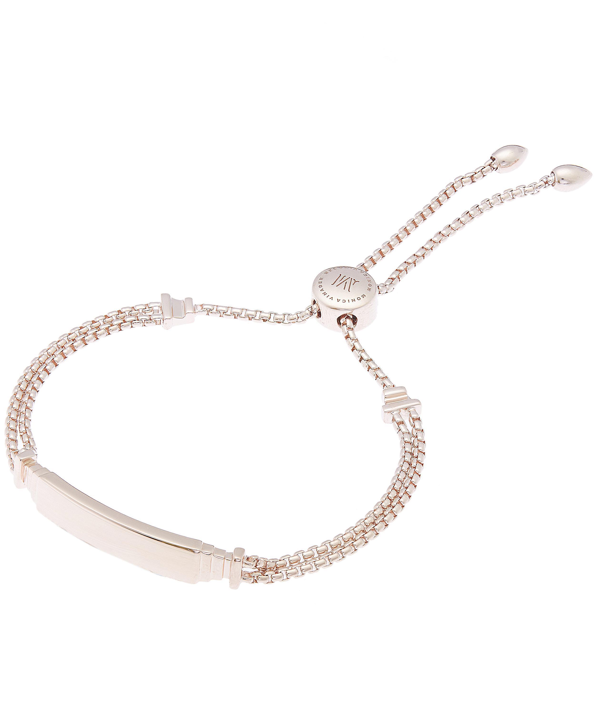 Rose Gold Baja Facet Bracelet Rose Quartz Monica Vinader jx4Pmsziqg