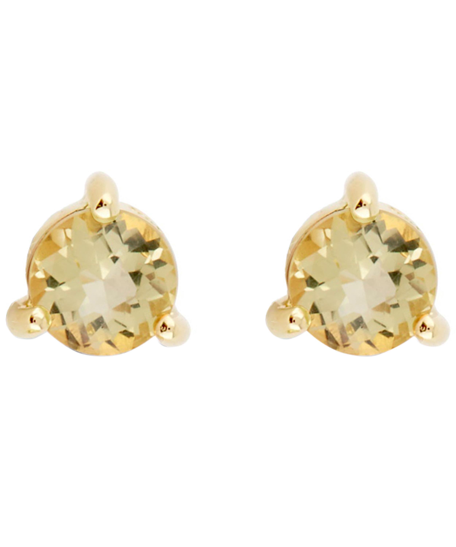 4484c4ddd ... Gold Vermeil Gem Drop Oro Verde Stud Earrings - Lyst. View fullscreen