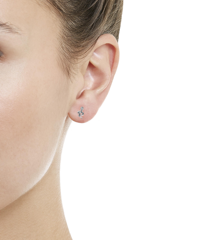 36b94d9dd Maria Tash - Multicolor Large Engraved Diamond Snake Threaded Stud Earring  Left - Lyst