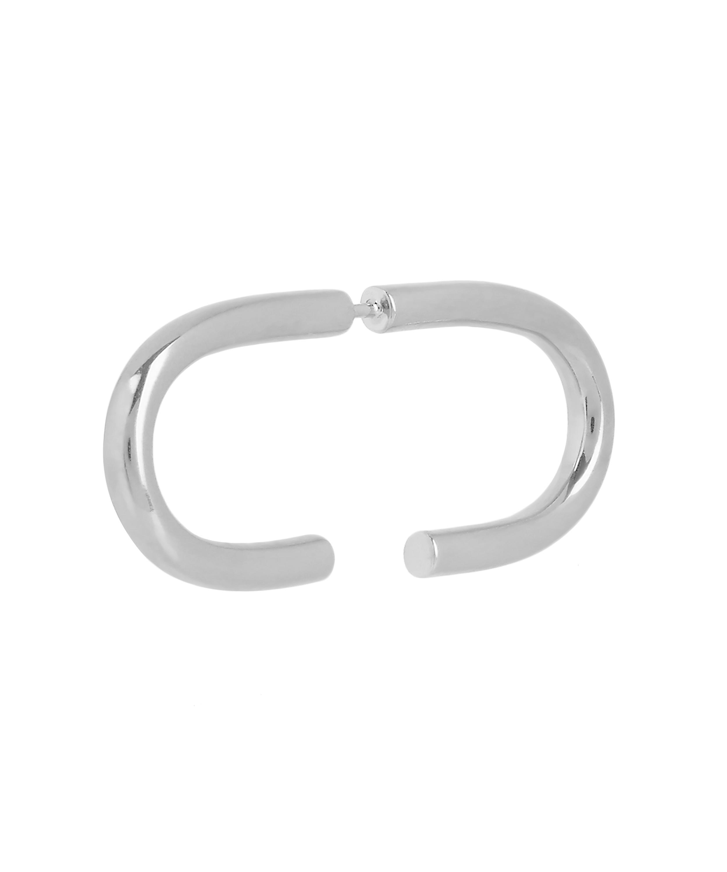 Maria Black Horizontal earring - Metallic WlfZCKybpl