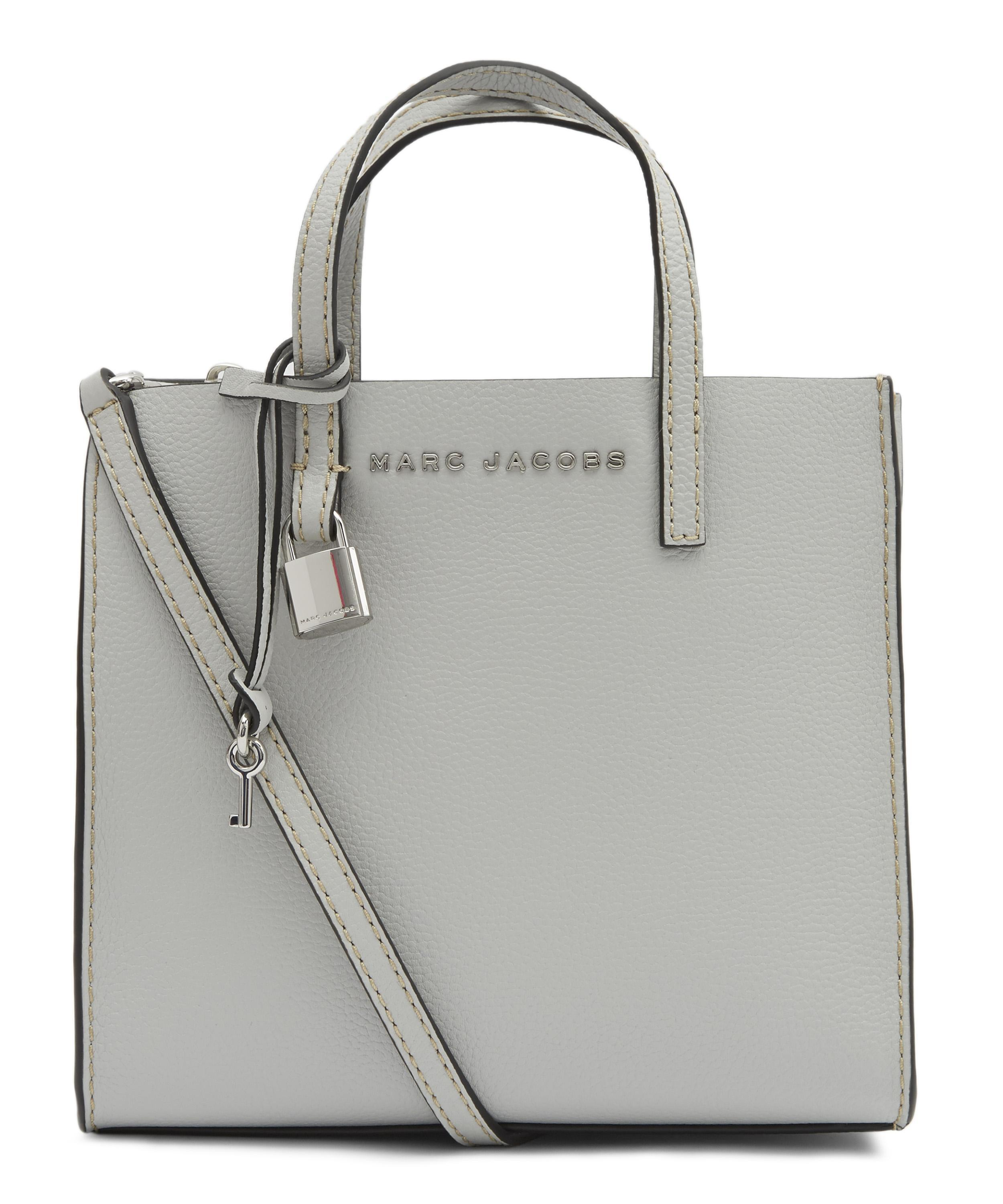 9a7c354eb2443 Marc Jacobs - Gray The Mini Grind Leather Tote - Lyst. View fullscreen