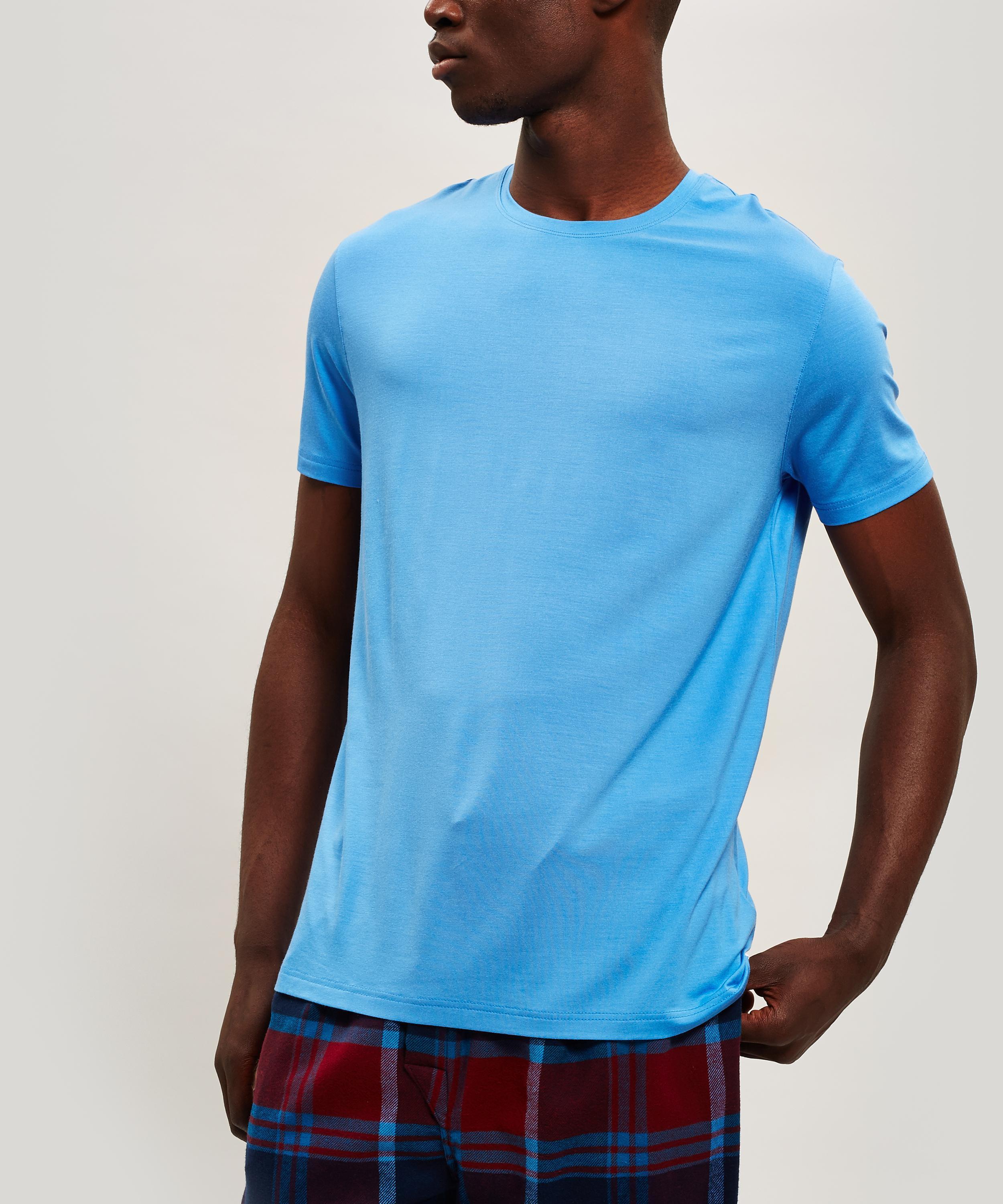 fba802e4129b Derek Rose Basel 4 Micro Modal T-shirt in Blue for Men - Lyst