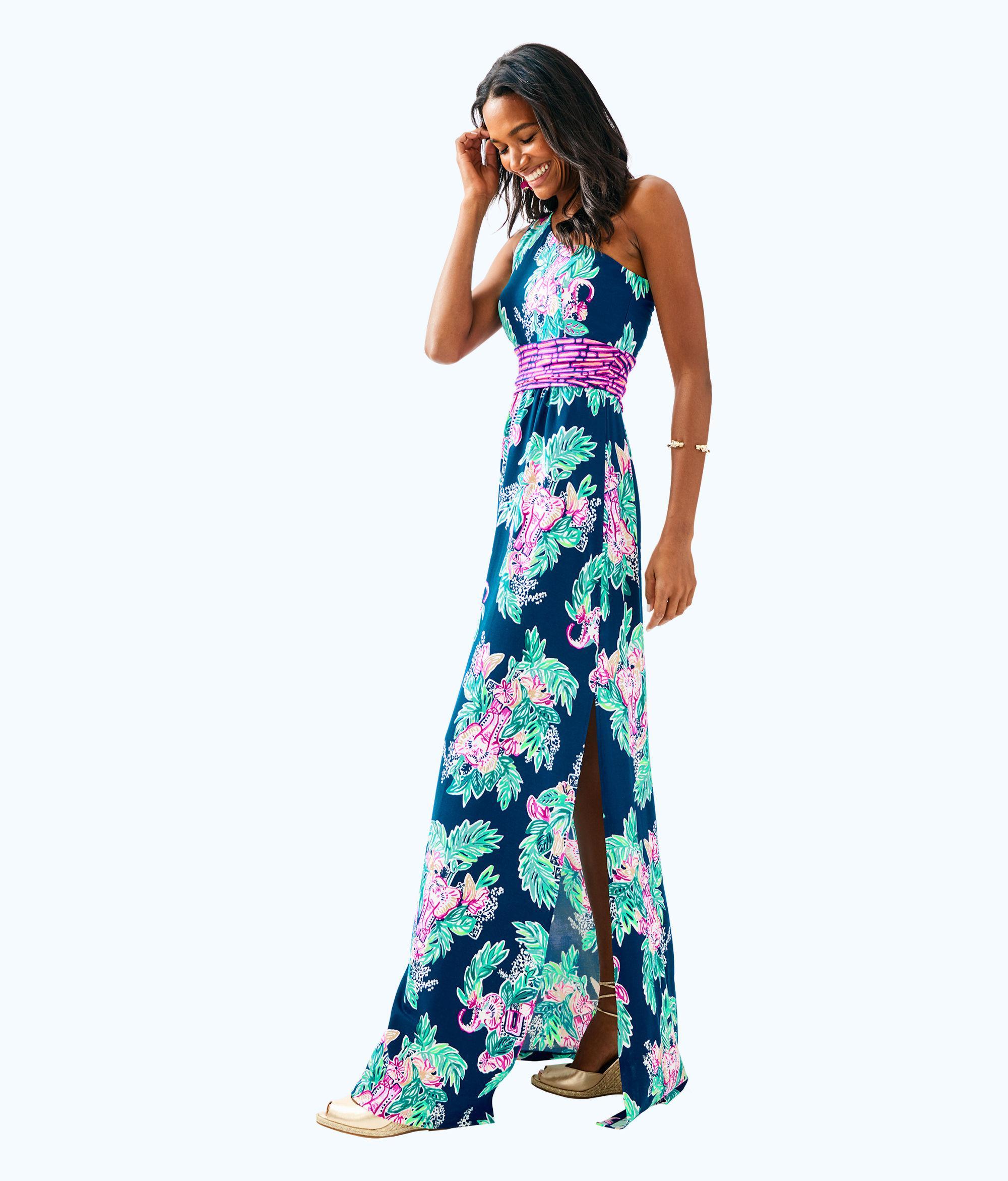 e3bca47f36 Lilly Pulitzer Malia Maxi Dress in Blue - Lyst