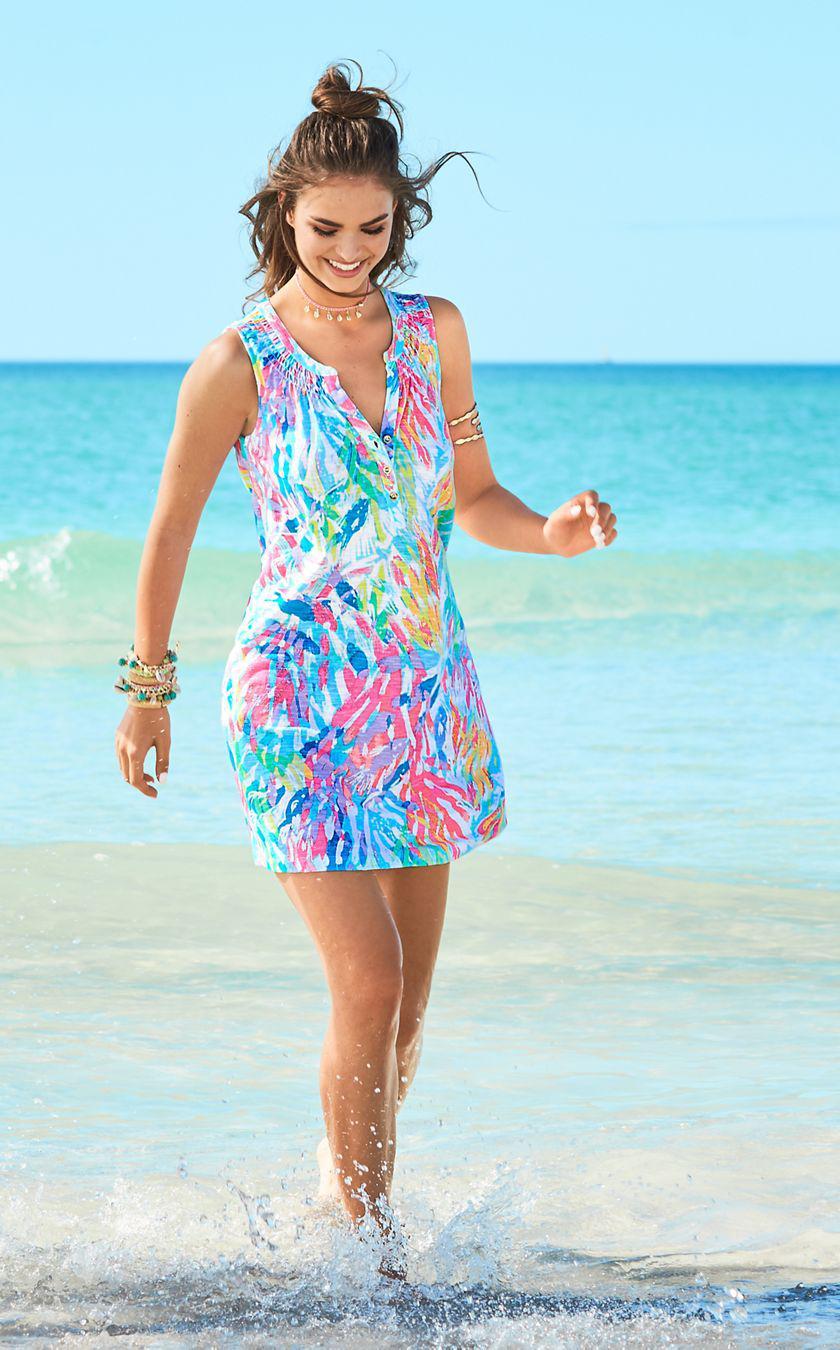ac5ed0188b7105 Lilly Pulitzer Sleeveless Essie Dress in Blue - Lyst