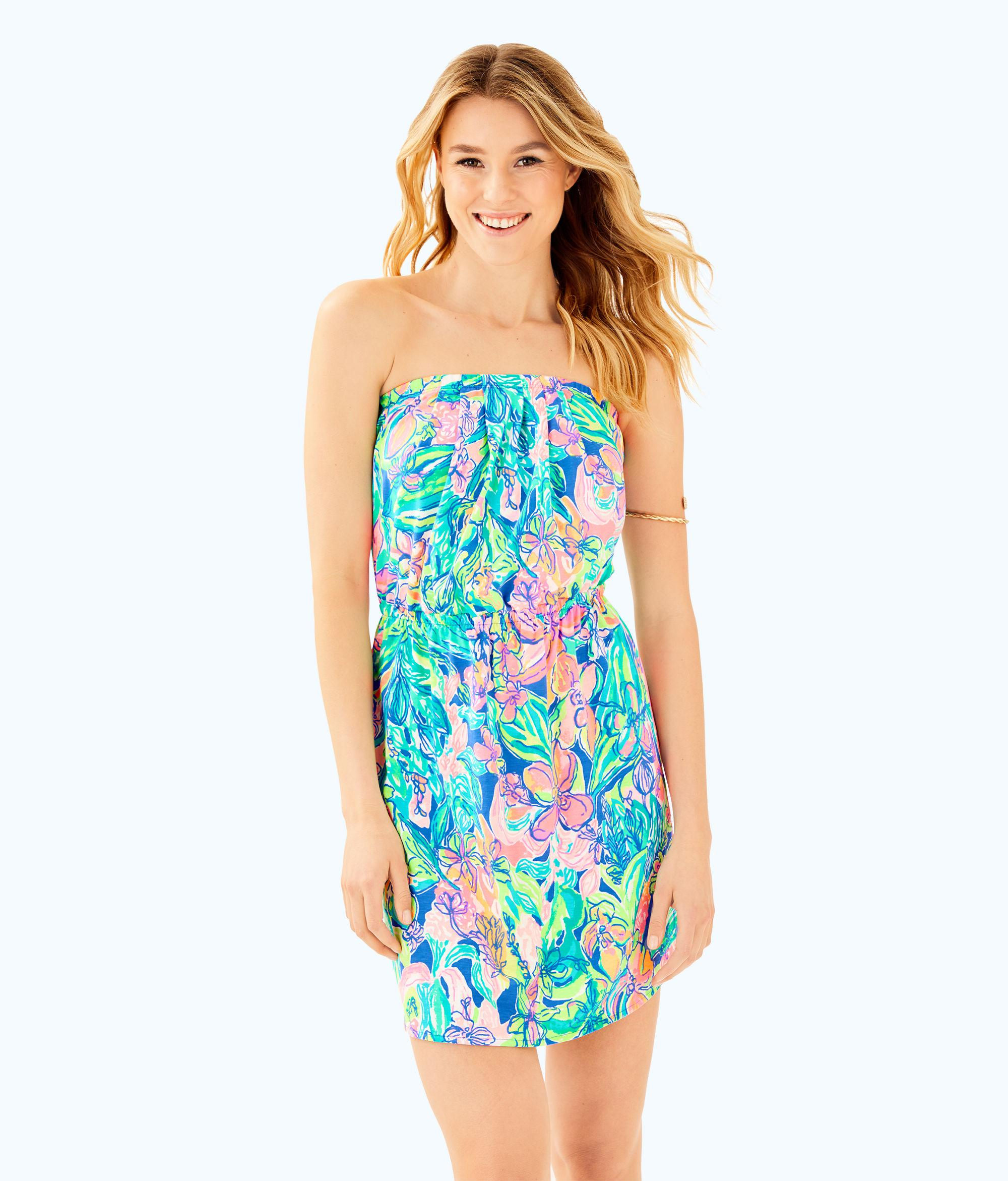 b897d000757 Lilly Pulitzer Windsor Strapless Pull-on Dress in Blue - Lyst