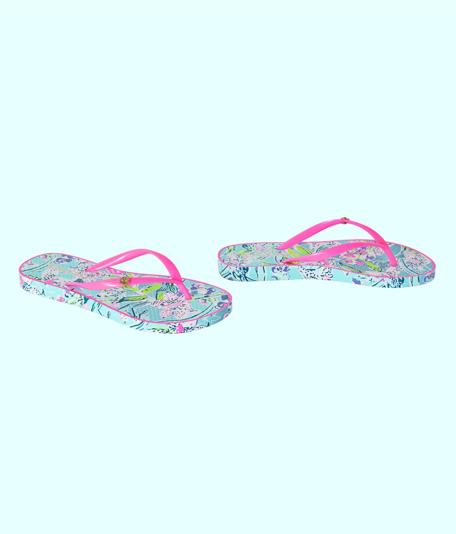 595e4e0cdba Lyst - Lilly Pulitzer Pool Flip Flop in Blue