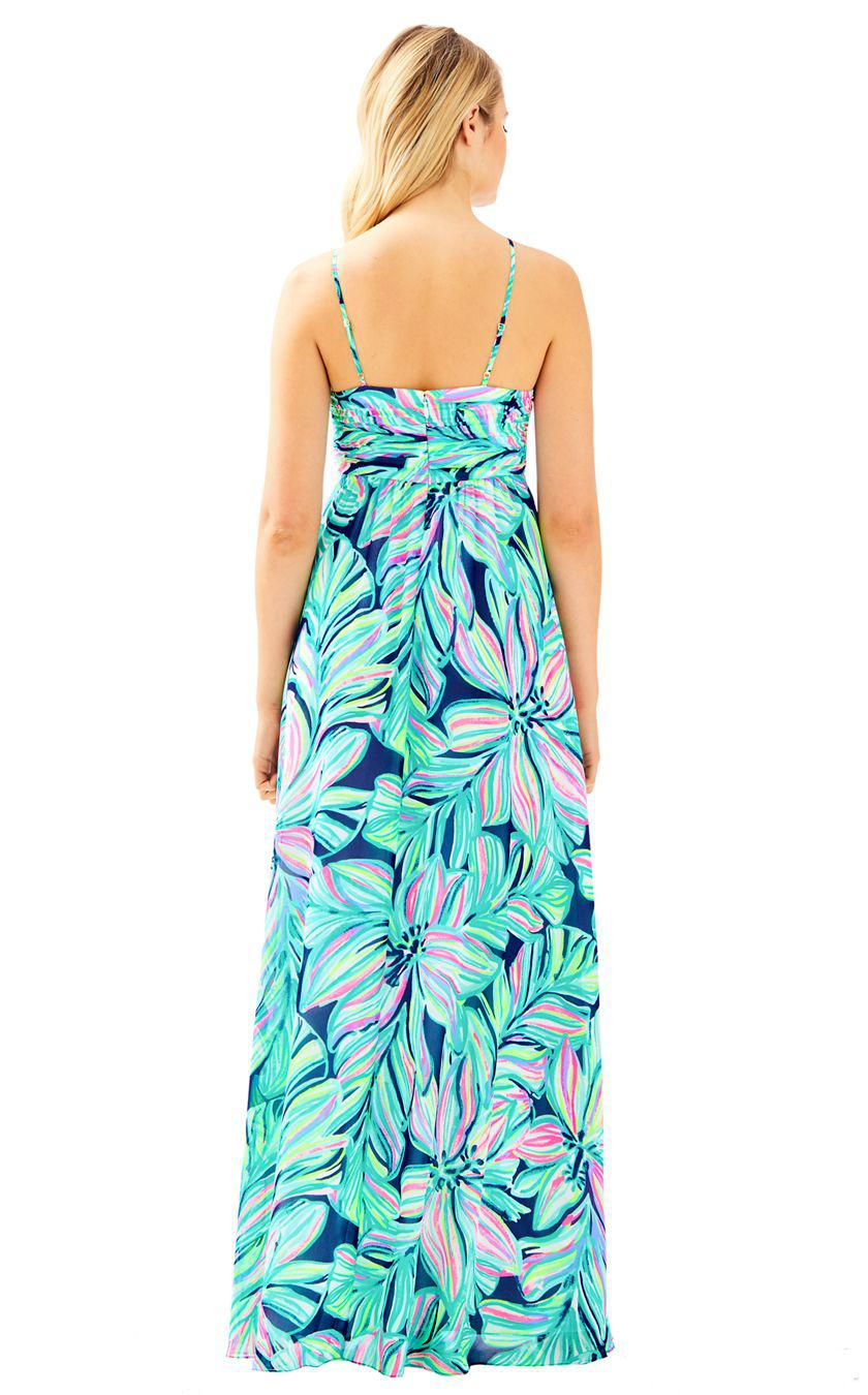 3fb7c717708693 Lilly Pulitzer Lannette Maxi Dress in Blue - Lyst