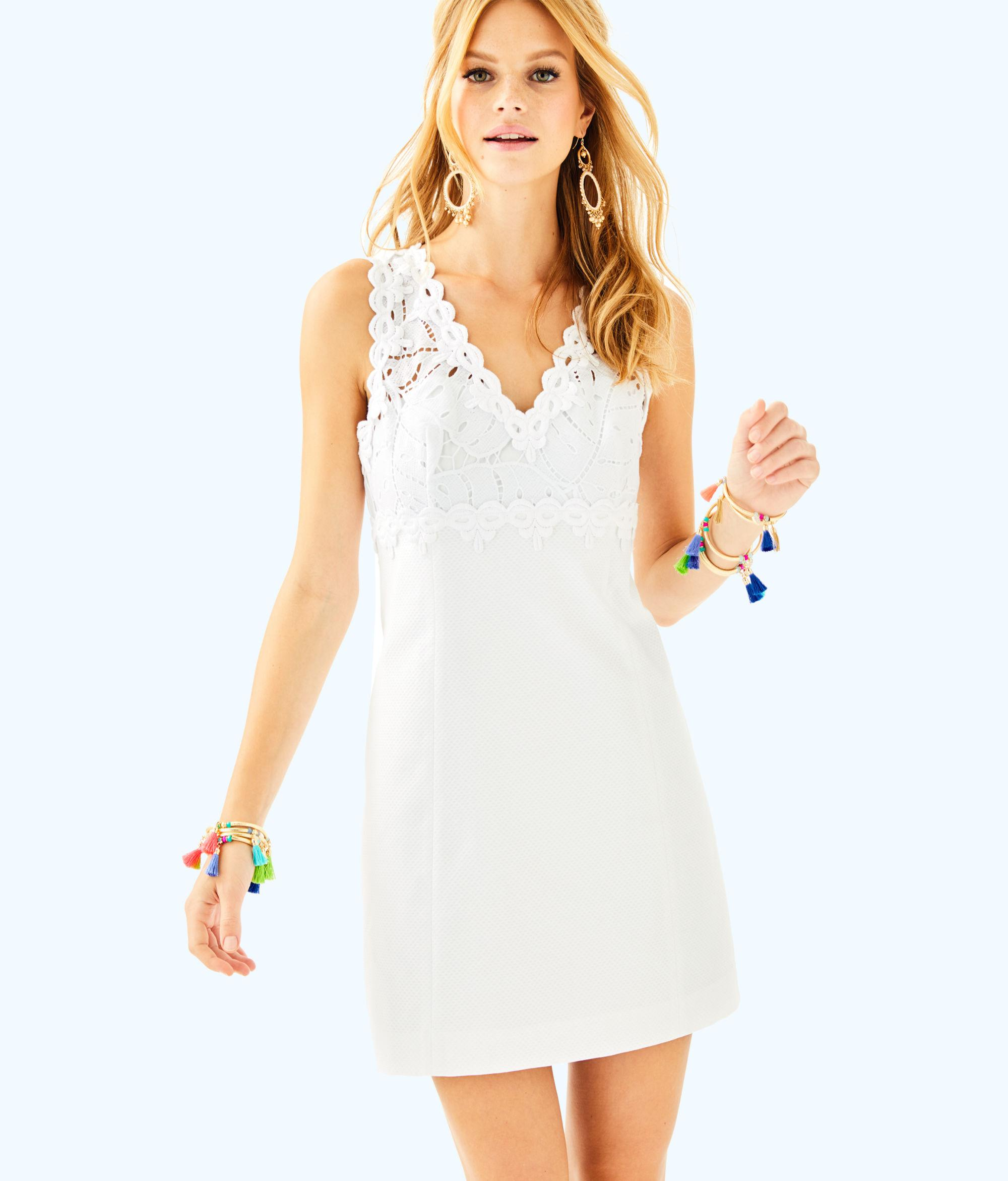 882d418b5ad0 Lilly Pulitzer Sandi Stretch Shift Dress in White - Lyst