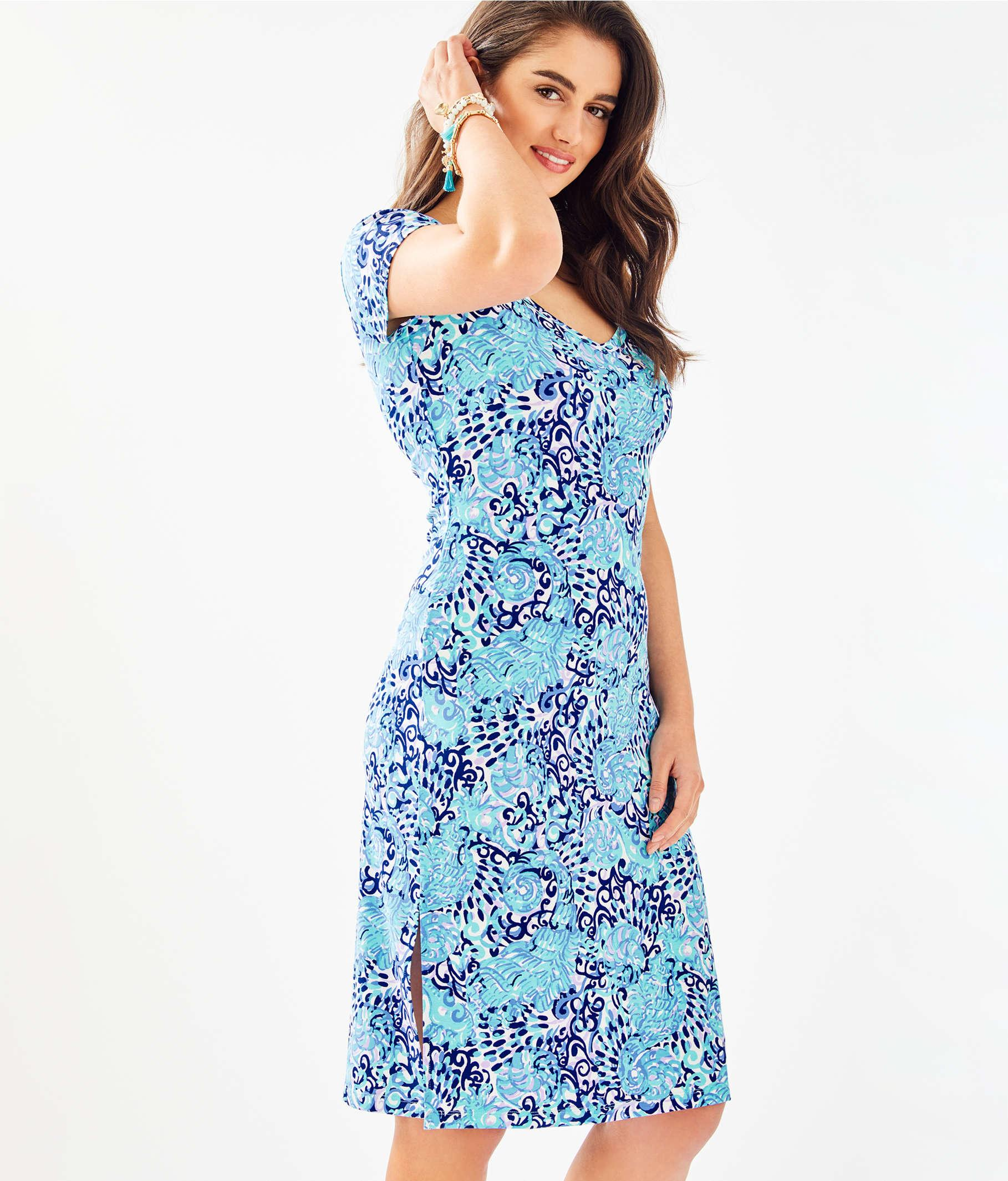cabd3d9ea65704 Lilly Pulitzer Malin Midi Dress in Blue - Lyst