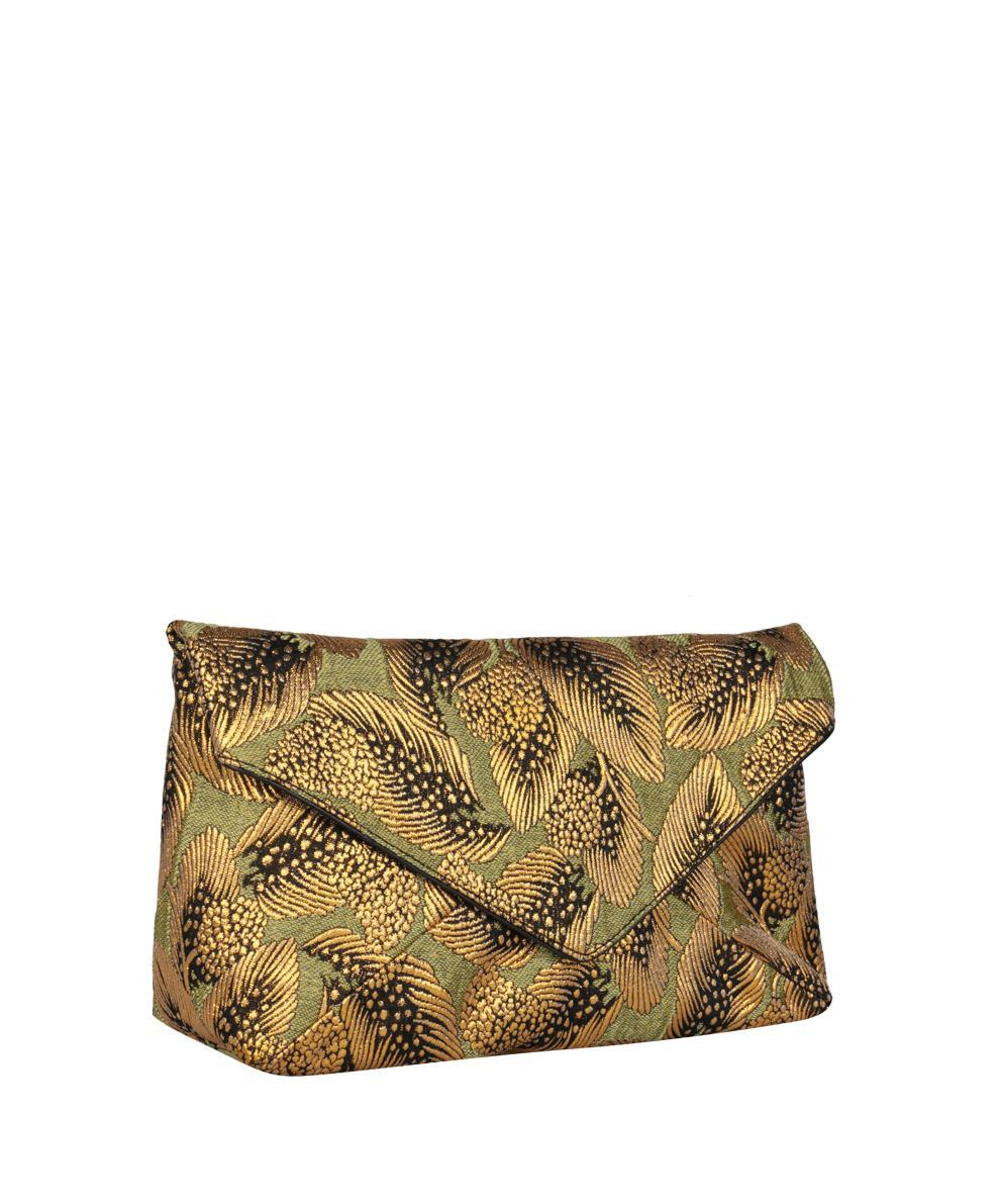 beige crystal embellished fabric clutch Dries Van Noten RTyY6HmpiF