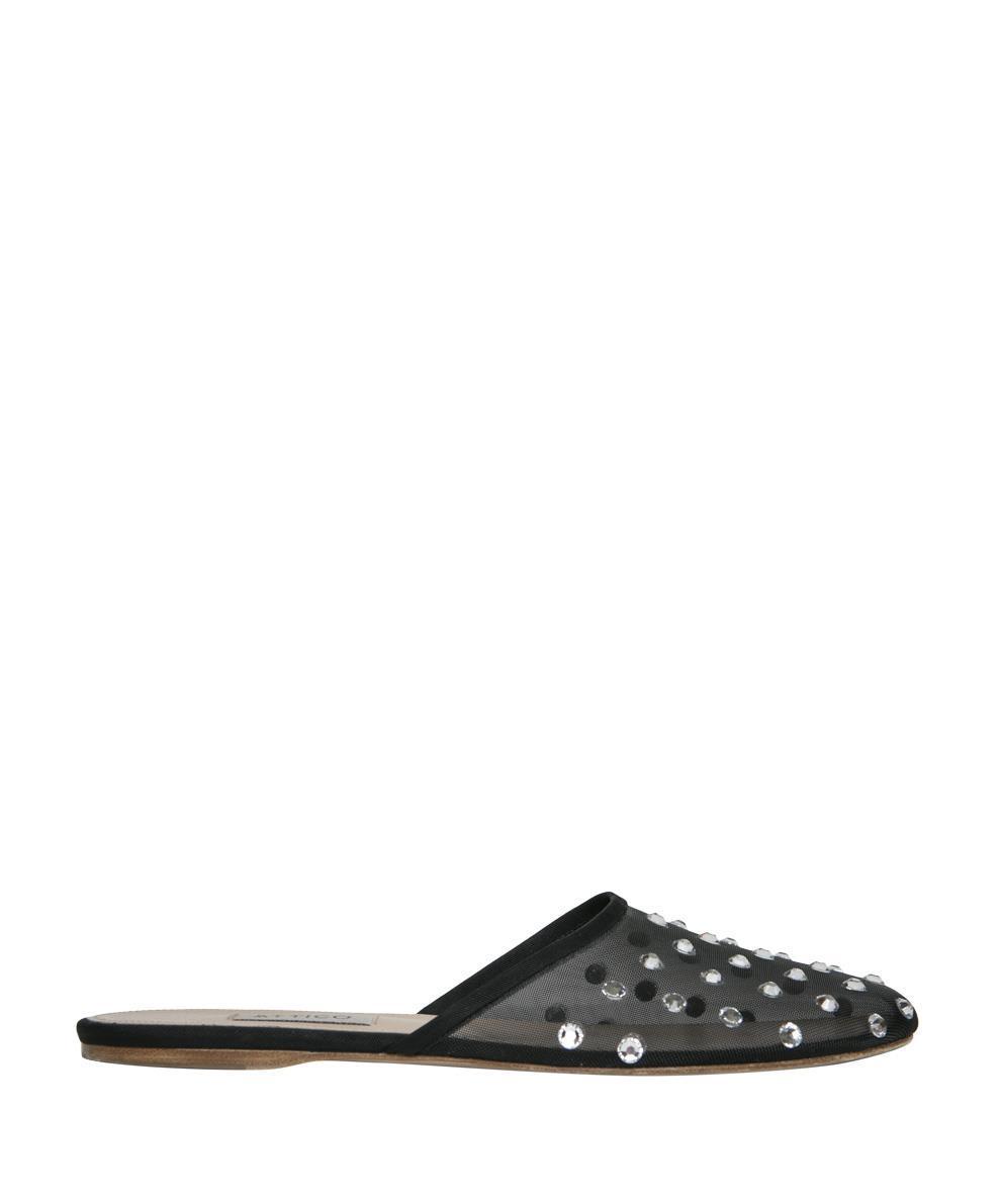 ATTICO Gina crystal-embellished slipper shoes Outlet Visit aCHL2stjAy
