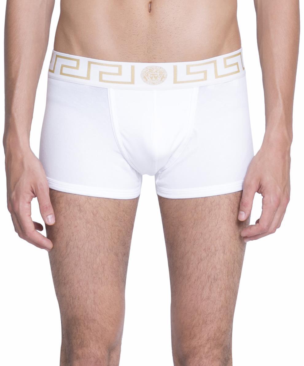 9755d942fc3d Versace Cotton Boxer Briefs in White for Men - Save ...