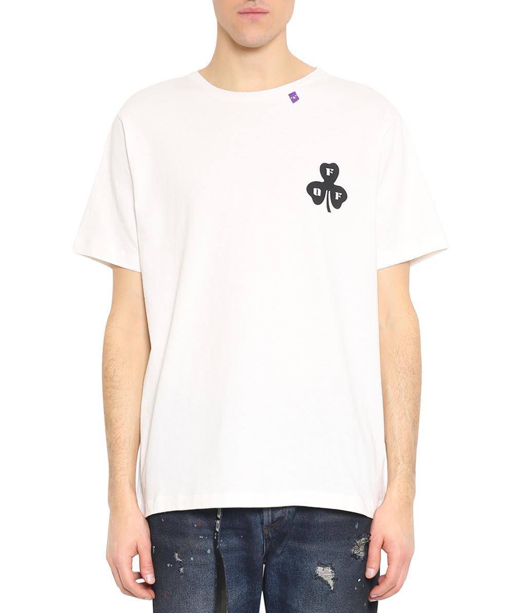 d47ded687913 Off-White C O Virgil Abloh Globe Cotton T-shirt in White for Men - Lyst