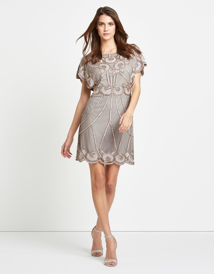 frock and frill frock frill all over sequin batwing dress in metallic lyst. Black Bedroom Furniture Sets. Home Design Ideas