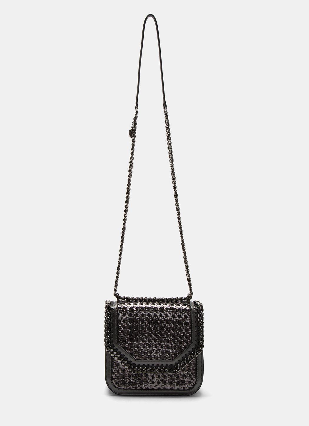 2cc01a42a133 Lyst - Stella McCartney Metallic Wicker Falabella Box Shoulder Bag ...
