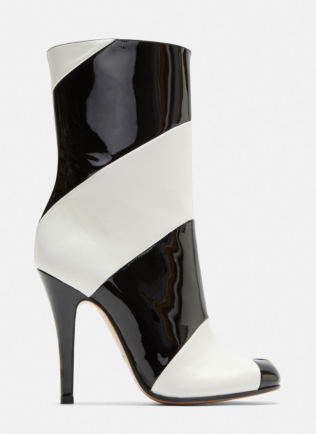 Tabi Striped Stiletto Ankle Boots Maison Martin Margiela 4h6fC5A4