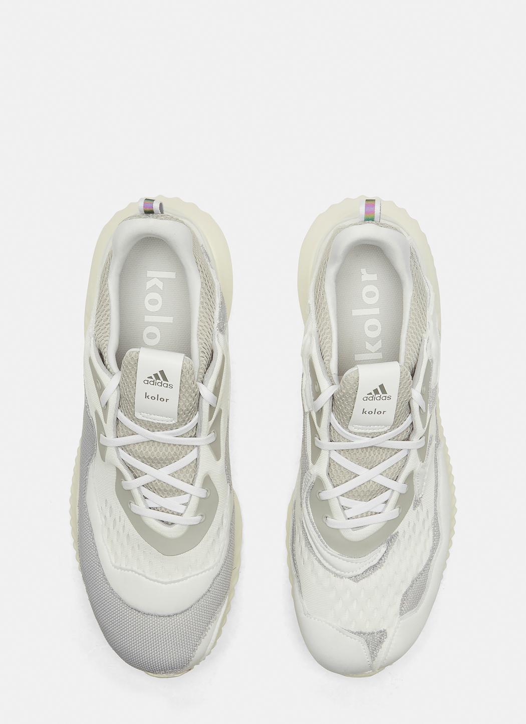 best website 986fb d1b1b Adidas Originals X Kolor Alpha Bounce Sneakers In White in W