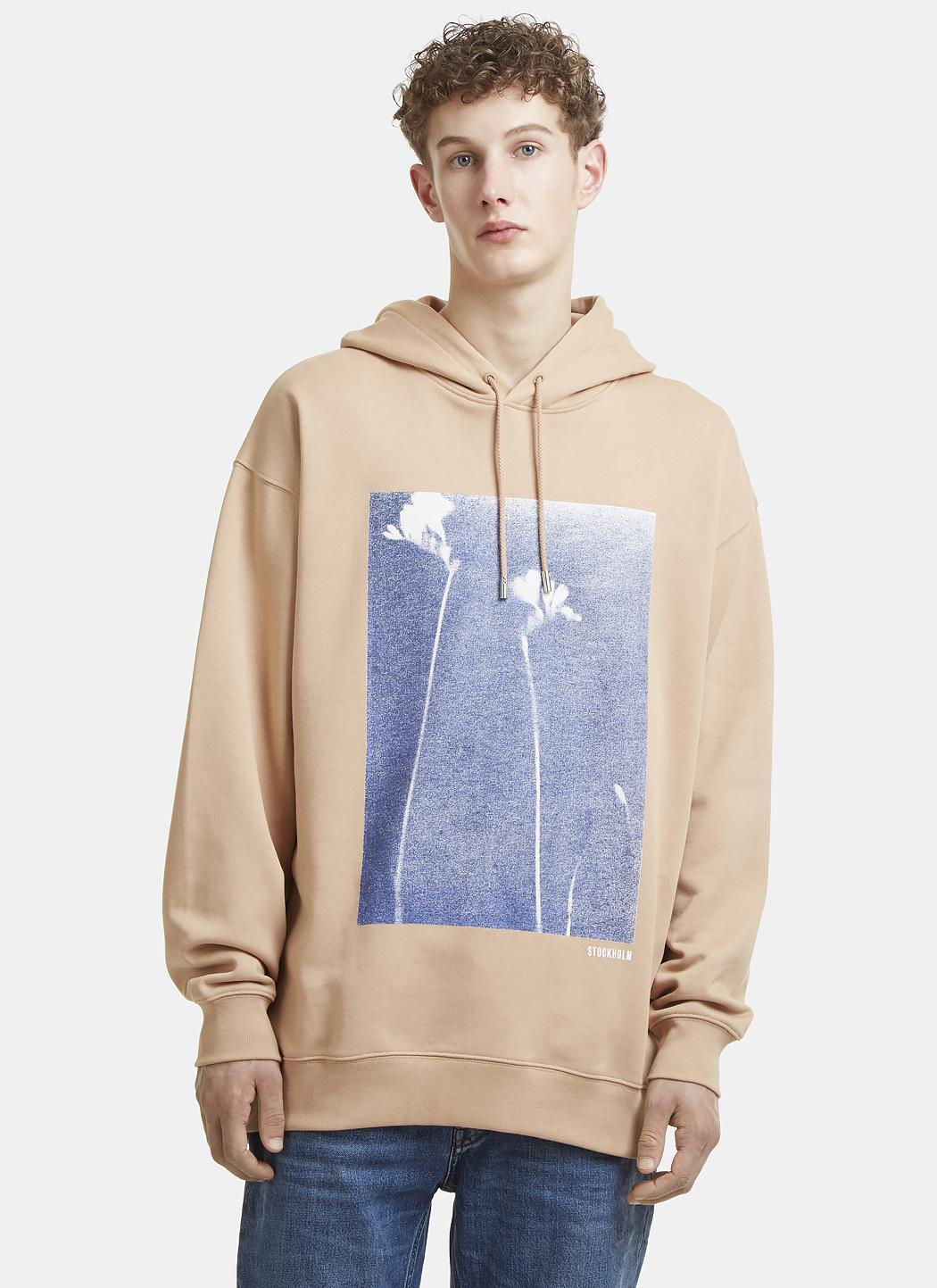 Manchester For Sale Drumn Oversized Printed Fleece-back Cotton-jersey Hoodie Acne Studios Buy Cheap Wholesale Price fwYBGFq